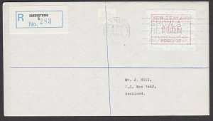 NEW ZEALAND 1986 $1.55 Frama Registered FDC ex Queenstown...................B278
