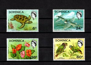 DOMINICA - 1970 - QE II - GREEN TURTLE - FISH - PARROT - FLOWER - # 1 - MNH SET!