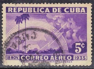 CUBA SC# C22  **USED** 1936  5c   AIRMAIL  SEE SCAN