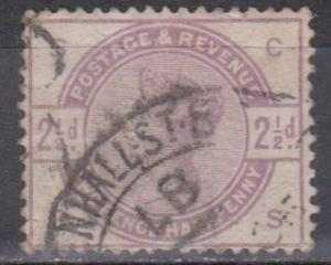 Great Britain #101 F-VF Used CV $16.00 (B7463)
