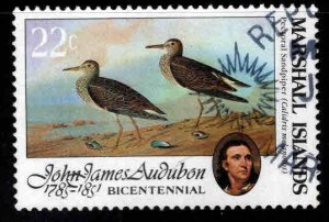 Marshall Islands Scott 64 Used Audubon Bird art stamp