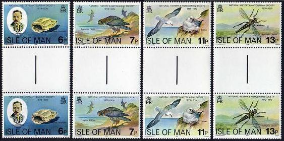 Isle of Man 142-145 gutter,MNH.Michel 138-141. Philip Kermode,Shell,Falcons.1979
