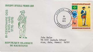 Mauritania, First Day Cover, Americana