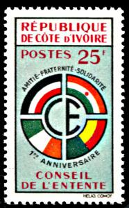 Ivory Coast 181, LH, Council of the Entente