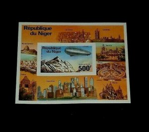 NIGER #C278, ZEPPELIN DELUXE IMPERF. PROOF CARD, SCARCE!, MNH, NICE!, LQQK!
