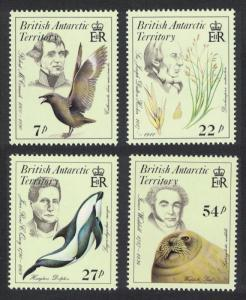 BAT Birds Dolphin Seals Early Naturalists 4v SG#143-146