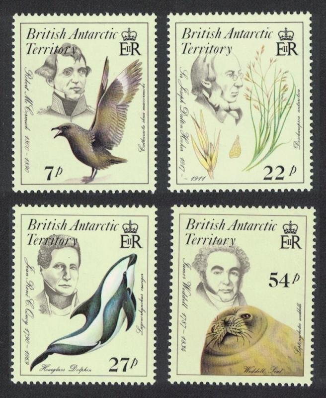 BAT Birds Dolphins Seals Early Naturalists 4v SG#143-146