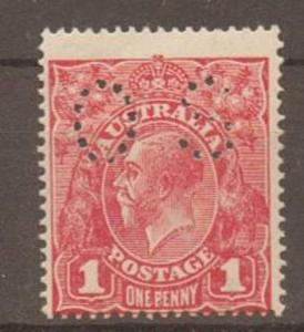 AUSTRALIA SGO63 1918 1d CARMINE MTD MINT