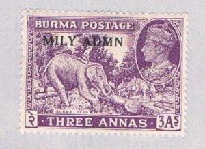 Burma 43 MLH Elephant 1945 (BP5006)