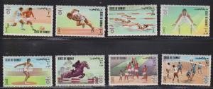 KUWAIT Scott # 549-56 MH - Munich Olympics 1972