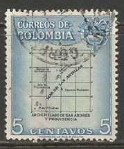 COLOMBIA 649 VFU MAP E120-1