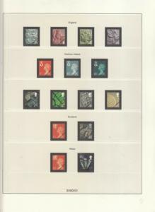 LINDNER LUXURY GB ALBUM PAGES YEAR 2001