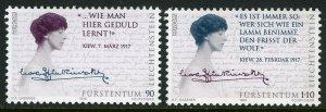 Liechtenstein 1065-1066,MNH.Michel 1124-25.EUROPE CEPT-1996.Countess Nora Kinsky