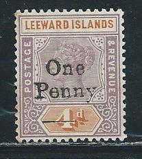 Leeward Islands 17 1902 Surcharge single MLH