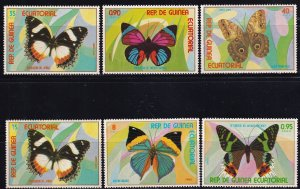 Equatorial Ginea, SW 1294-1299, MNH, 1976, Butterfly, AA02495