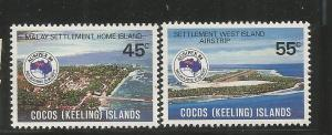 COCOS ISLANDS, 119-120, MNH, HOME ISLAND
