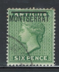 Montserrat 1876 Overprint 6p Scott # 2 Used