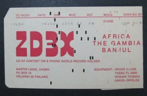 6390 Amateur Radio QSL Card Africa The Gambia Banuul