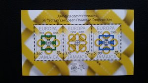 50th anniversary of EUROPA stamps - Jamaica 1x Bl ** MNH