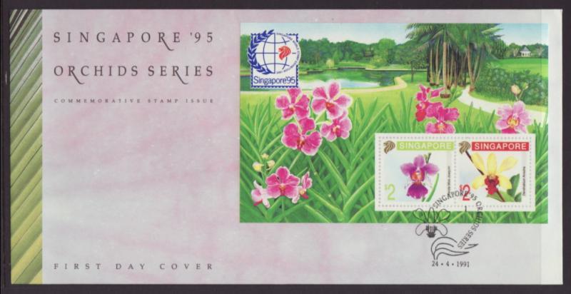 Singapore 597b Orchids U/A FDC