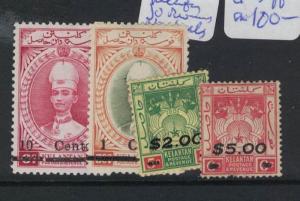 Malaya Jap Oc Kelantan Revenue No Seals 4 Vals (9doj) MNH (10doj)