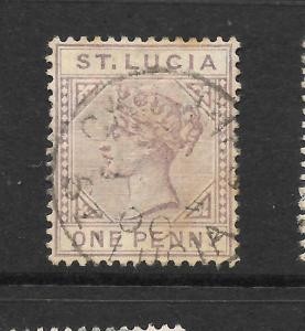 ST LUCIA 1886-87  1d     QV   FU    SG 39