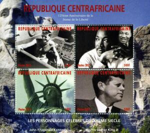 Central African Republic 2011 KENNEDY Sheet Perforated Min t (NH)