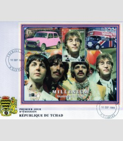 Chad 1999 The Beatles Stamp Show London 2000 s/s Perforated in official FDC