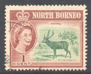 North Borneo Scott 280 - SG391, 1961 Elizabeth II 1c used