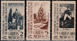 MEXICO 781-783, S. Miguel de Allende 400th Anniv. UNUSED, H. OG. VF.