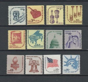 US,1613-19,1811-16,COILS,AMERICANA ISSUES, COLLECTION,MINT NH OG,VF