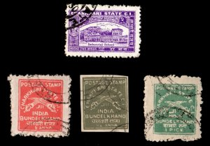 4 CHARKHARI  TYPE 2 (INDIAN STATE) Stamps