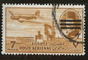 EGYPT Scott C70 Used 1953 Bar obliterated airmail