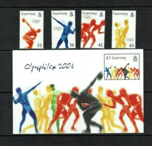 Guernsey: 2004, Olympic Games, Athens, Greece, MNH set + M/S