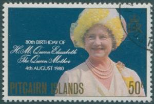Pitcairn Islands 1980 SG206 50c Queen Mother birthday FU