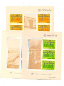 Portugal Azores Madeira 1984  Europa sheets Mint VF NH - Lakeshore Philatelics