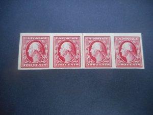U.S. # 384 VFNH Strip of 4 with Line Pair