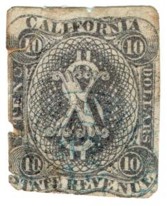 (I.B) US Revenue : Duty Stamp $10 (California)