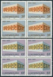 Luxembourg 475-476 blocks/4,MNH.Mi 788-789. EUROPE CEPT-1969 Tenth anniversary.