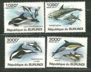 Burundi MNH 852-5 Dolphins 2011 SCV 13.00