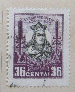 A11P5F65 Litauen Lituanie Lithuania 1930 36c used