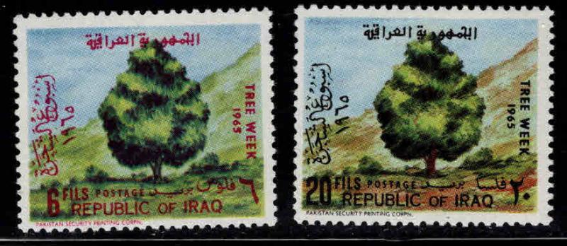 IRAQ Scott 367-368 MH*  1965 Tree set