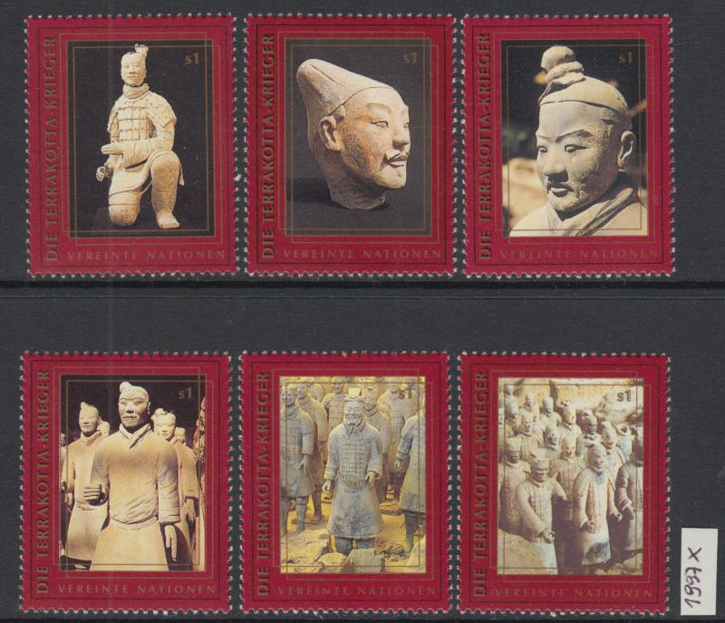 XG-X576 UNITED NATIONS - China, 1997 Terracotta Soldiers Vienna 6 Values MNH Set