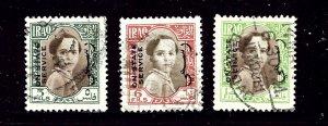 Iraq O119/O120/O122 Used 1942 issues      (P70)