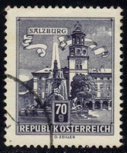 Austria #691 Residenz Fountain, used (0.20)