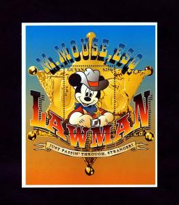 GUYANA - 1996 - DISNEY - MICKEY MOUSE - LAWMAN - WILD WEST + MINT - MNH S/SHEET!