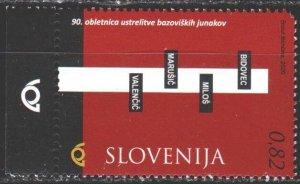 Slovenia. 2020. 1429. Memory of the heroes of Bazovitsa. MVLH.
