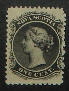Nova Scotia 8. 1860 1c Black QV