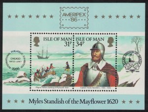 Isle of Man Captain Myles Standish of the Mayflower MS SG#325 SC#311a