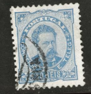 Portugal Scott 61  King Luiz 1884